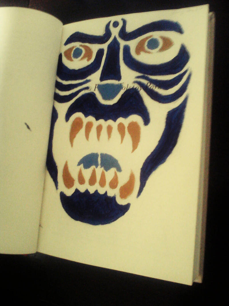 Book Art page #7: Stenciled Beast by MangaPhilosopher