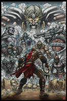 God of war by graytones