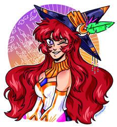 The Arcana Apprentice, Robin - Prismatic Sorceress by michfranc