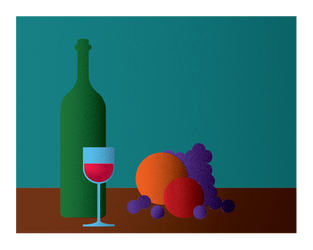 Art Deco practice - Wine and Fruit by graphyt