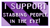 I support Stabbing people by StampCollectors