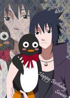 Sasuke Uchiha and Pingu by xSubarashiiSayurix
