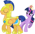 Flash Sentry and Princess Twilight Sparkle by ChainChomp2