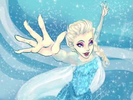 Let it go Elsa by Kaneladit