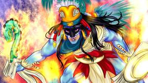 Huitzilopochtli by Kaneladit