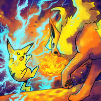 Fierce Competition -collab- by crayon-chewer