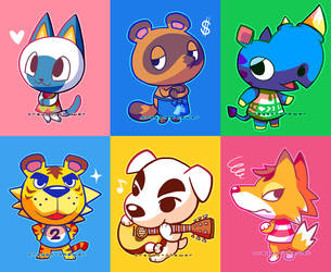 Animal Crossing Villagers by crayon-chewer