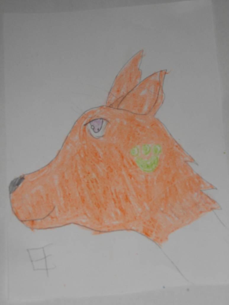 Orange Anime Wolf Head By Manimcool On Deviantart