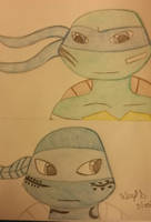 Leonardo and the Mysterious Alien Turtle by Aleykat17