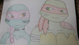 Raphael and the Mysterious Alien Turtle part 2 by Aleykat17