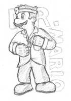 Dr. Mario Sketch by Scezumin