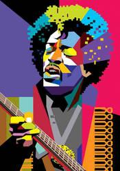 Jimi Hendrix in WPAP by wedhahai