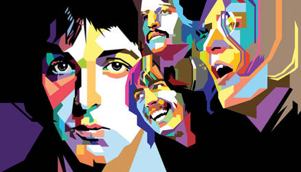 The Beatles in WPAP by wedhahai