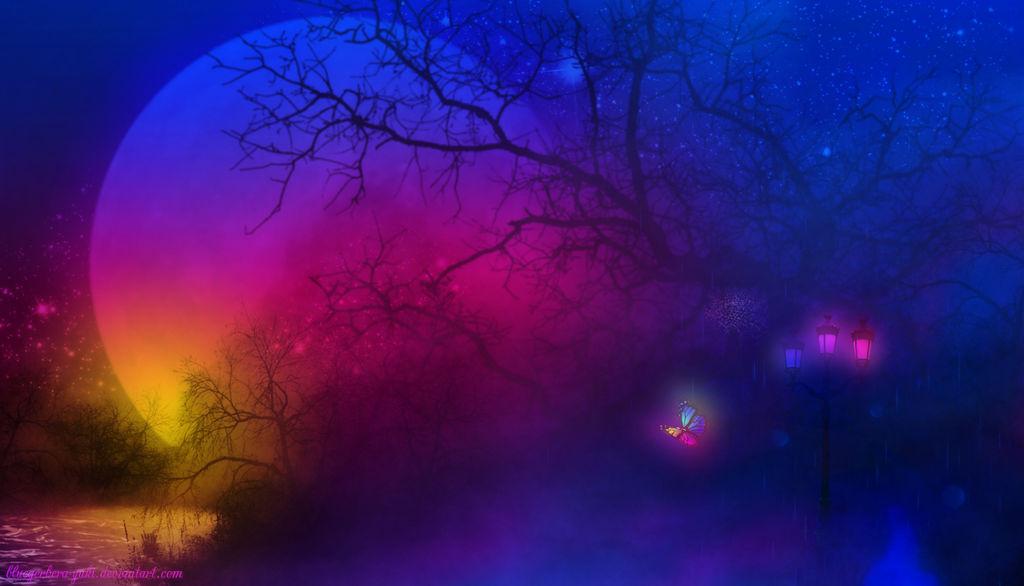 Mysterious Night by bluegerbera-yuki