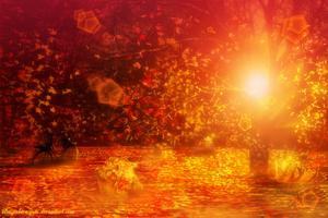 Autumn sunset by bluegerbera-yuki