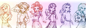 Equestria Girls - The Elements by imDRUNKonTEA