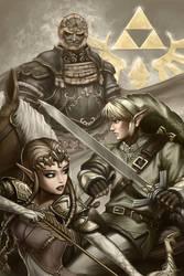 The Legend of Zelda - the Triforce by imDRUNKonTEA