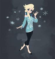 Modern Elsa by imDRUNKonTEA