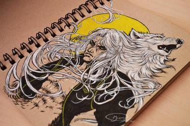Great Silver Wolf by mangakasan