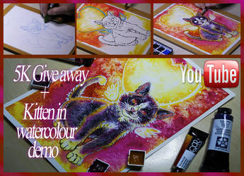 5K giveaway + Watercolour demo by mangakasan