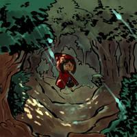 Caperucita y los 3 cerditos contra el lobo by MarisaArtist