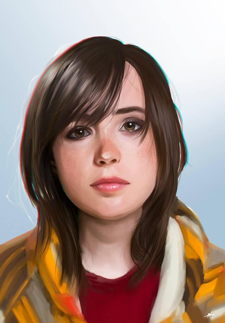 Ellen Page (Jodie Holmes) Portrait by MarisaArtist
