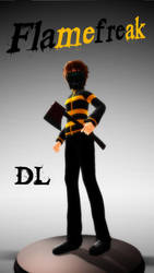 [MMD] Creepypasta OC - Flamefreak .:DL:. by Laxianne
