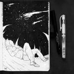 Inktober2018 #8 - Star by Laxianne