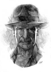 portrait of indiana jones by kevintolibao