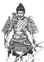 samurai warrior by kevintolibao
