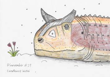 Dinovember #19 - Carnotaurus by Rahonavis70m