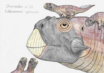 Dinovember 2018 #20 - Psittacosaurus by Rahonavis70m