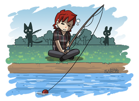 Fishing Is Exciting by tazsaints