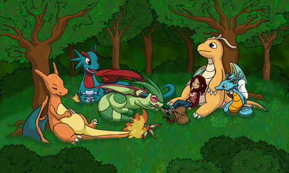 Dragon Pokemon Rest by tazsaints