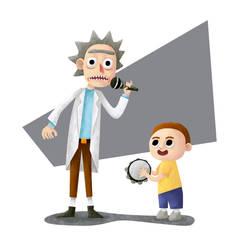 Rick and Morty - Fanart by nlfrogger