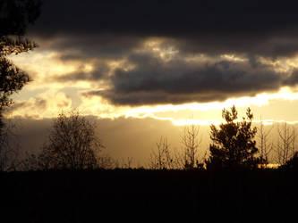 Stensaettra fornborg sunset by kolibanat
