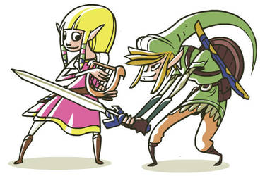 Two Heroes: Skyward Sword by FlashBros