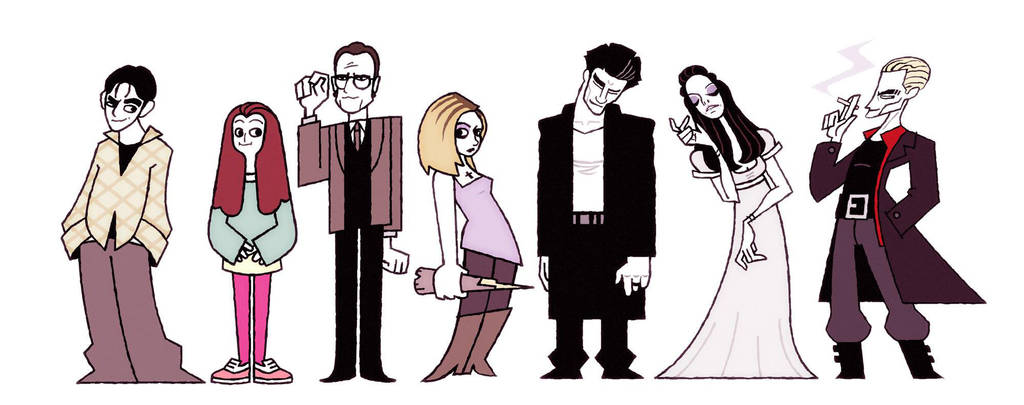 Buffy and friends by FlashBros