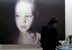 Helnwein in the studio by gottfriedhelnwein