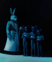 Hour of the Rabbit by gottfriedhelnwein