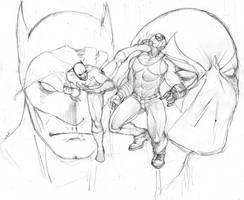batman battles bane.... by Selkirk
