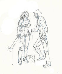 michonne ..zombie .. hands off buddy ! :D by Selkirk