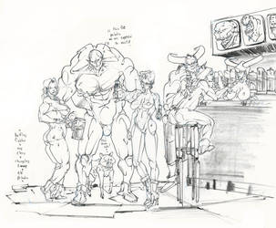 fantasy tavern ..where is that paladin? :D by Selkirk
