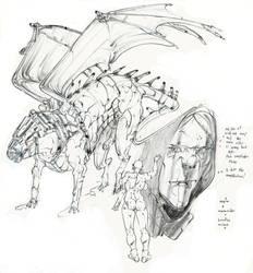 Wyrm Wyrm Rider Warlock by Selkirk