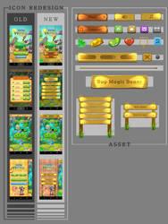 Farm Heroes Saga UI Redesign by Shiige