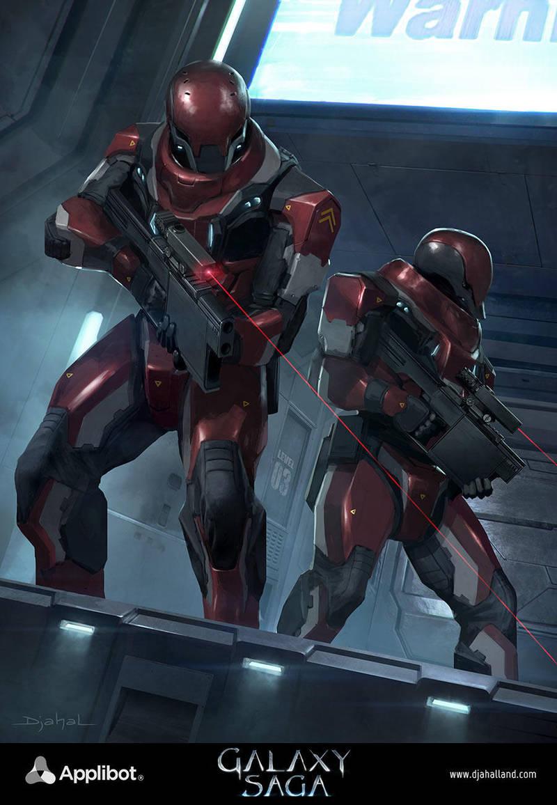 Galaxy Saga (applibot) Galactic empire soldier by djahal