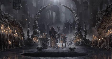 The Dark Sorcerer (Quantic Dream) Cave by djahal
