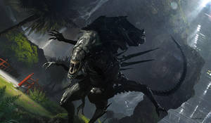 Alien 5 Hunting by djahal