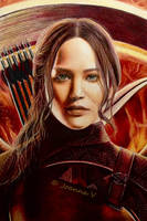 Katniss Everdeen - colored pencils by Joanna-Vu