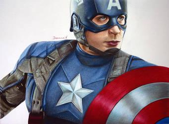 Chris Evans as Captain America by Joanna-Vu